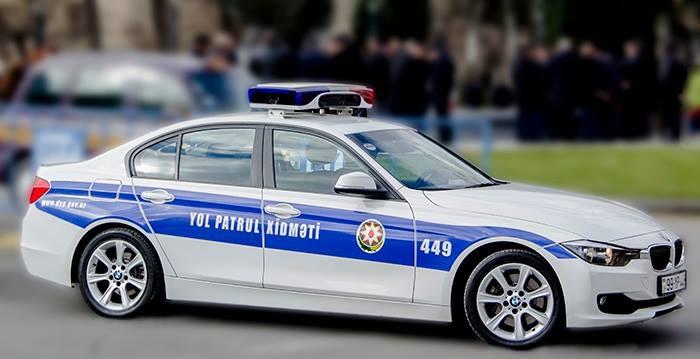 Bakıda yol polisinin təhlükəli manevrləri — ANBAAN VİDEO