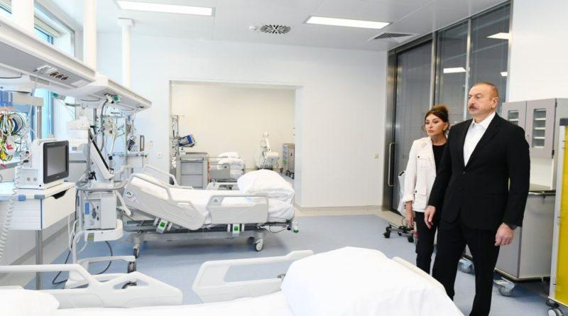 """Prezident və birinci xanım """"Yeni klinika""""nın açılışında – VİDEO/FOTOLAR"""