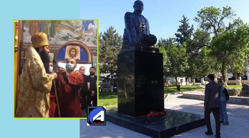 """""""Nərmanov gürcü düşmənidir, Zaqatalanı alıb, abidəsi sökülməlidir"""" – Yepiskop Giorgi / VİDEO"""