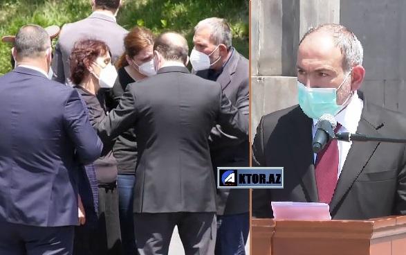 Öldürülən erməni mayorun dəfnində olay, huşunu itirdi – VİDEO