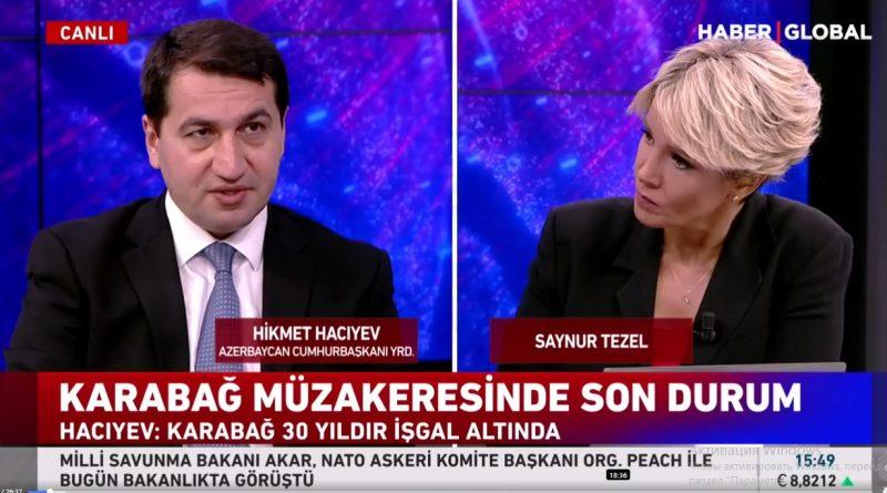 """Hikmət Hacıyev: """"Bakı və Ankara regionda çox gözəl inkişaf modeli yaradıblar"""" – VİDEO"""