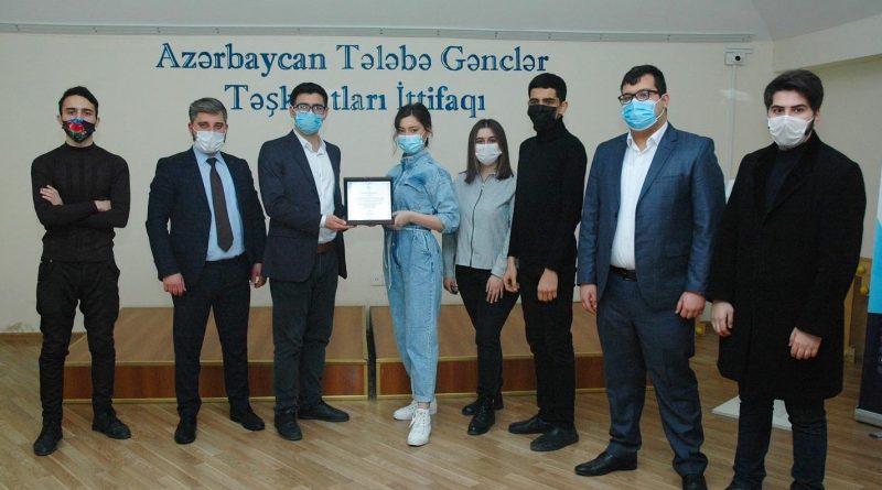"""Azərbaycan Memarlıq və İnşaat Universiteti """"İlin Tələbə Gənclər Təşkilatı"""" adını qazandı – FOTOLAR"""