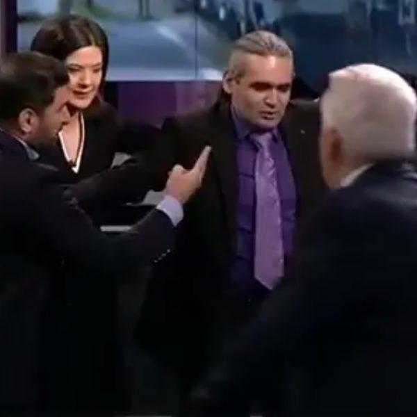 """""""Zvezda"""" TV-də azərbaycanlı və erməni ekspertlər əlbəyaxa oldu – VİDEO"""