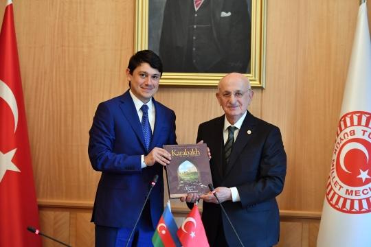 Fuad Muradov Türkiyə parlamentinin spikeri ilə görüşüb – FOTOLAR