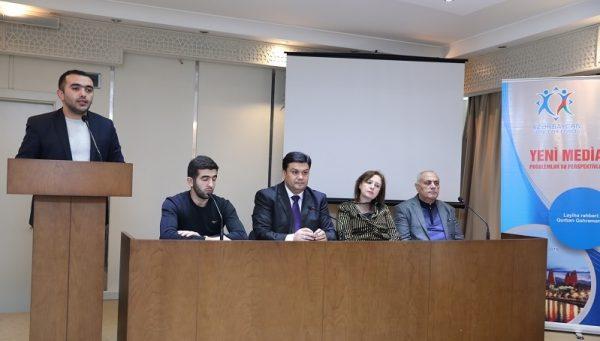 """AzMİU-da """"Yeni media:problemlər və perspektivlər"""" layihəsinin müzakirəsi keçirildi – FOTOLAR"""