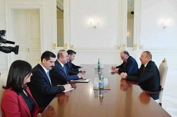 Prezident Çavuşoğlunu qəbul edib – FOTOLAR