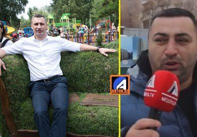 AzTV-nin Kiyevdə Kliçko hoqqası və park adına imitasiya- VİDEO/FOTO